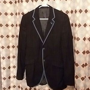 Ben Sherman Black/Blue pinstriped Blazer Small